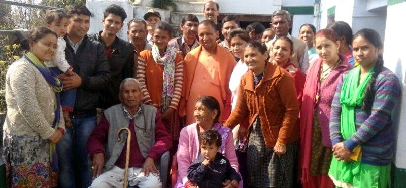 Yogi-Adityanath-With-His-Family