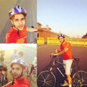 Actor Tanmay-Ssingh-loves-cycling