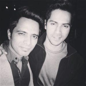 Actor Tanmay-Ssingh-with-Varun-Dhawan