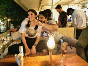 Drishti Saxena with her boyfriend