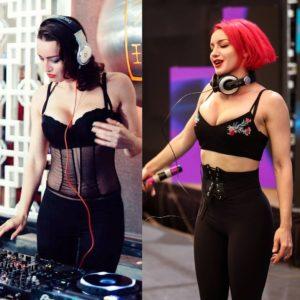 Olly Esse showing her DJ skills