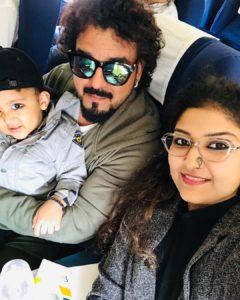 Toshi Sabri with his family