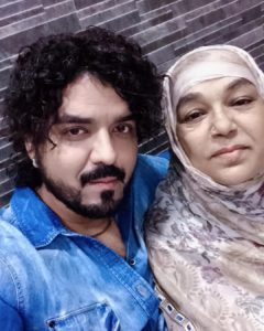 Toshi Sabri with his mother