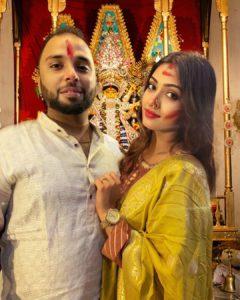Agnijita Banerjee with her husband