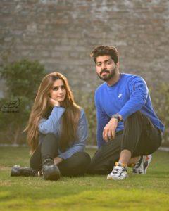 Alishba Anjum with her boyfriend