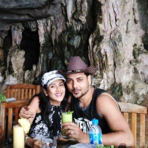 Debolina Dutta with her husband