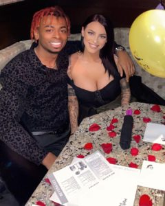 Jayce Ivanah with her fiance
