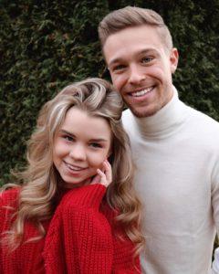 Lea Looskanal with her boyfriend