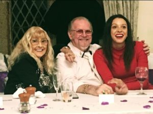 Mecia Simson with her grandparents