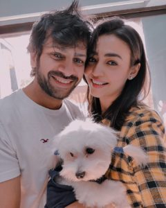 Nidhi Seth with her husband