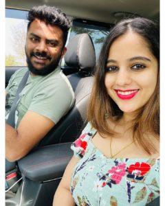 Niveditha Gowda with her husband