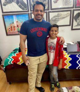 Piyush Joshi with Gaurav Taneja