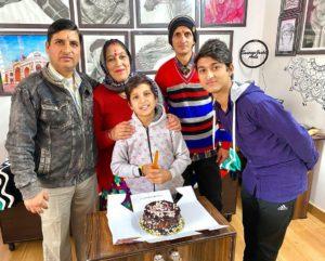 Piyush Joshi with his family