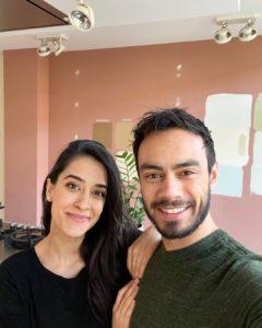 Sadia Badiei with her husband