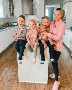 Tiffani Beaston wih her kids