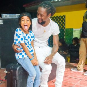 Jah Cure with his daughter